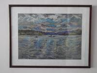 Озеро Сенеж, 40x50 см., пастель, бумага