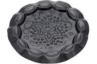 Подставка-тарелка декоративная черная чеканка D11.5cm