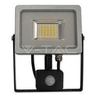 Прожектор LED V-Tac с датчиком — 10W Black/Grey Body SMD 3000K VT-4810