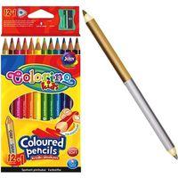 Цветные карандаши 12+1 шт. + точилкаColorino