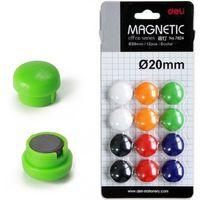 DELI Магнит цветной DELI Universal, D20 мм, 12 штук, блистер