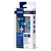 cumpără SVEN SEB 190M, Earphones, 20-20000Hz, 28ohm, 106dB, 1.2m, Tangle-free flat cable, Silver-Blue în Chișinău