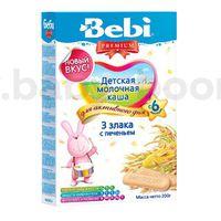 Bebi молочная каша Premium 3 злака с печеньем 200gr.(6+)