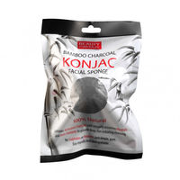 Губка для умывания Beauty Formulas  Bamboo Charcoal Konjac Sponge , 1 шт