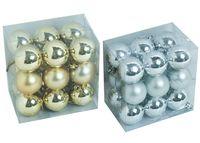 Set globuri pentru brad 18X40mm, in cutie