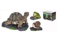 Черепаха/лягушка/улитка на камне H15cm, 19X14.5cm