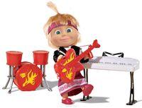 """Кукла """"Маша и Медведь"""" - Маша в рок-наряде с музыкальными инструментами 9301682"""