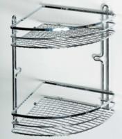Полка для ванной угловая двухъярусная Axentia Cassandra 280868