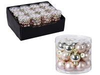 cumpără Set globuri din sticla 24X25mm, in cilindru, perle roz în Chișinău