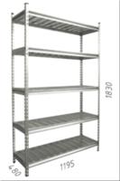 купить Стеллаж оцинкованный металлический  Gama Box 1195Wx480Dx1830 Hмм, 5 полки/МРВ в Кишинёве