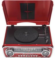 Проигрыватель Hi-Fi ION Audio Mustang LP (Black & Red)