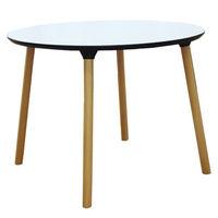 Masă cu suprafaţă şi picioare din lemn, 1000x750 mm, alb