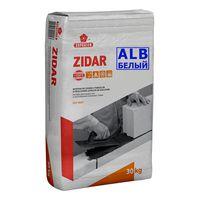 Кладочный раствор Zidar белый 30кг