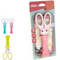 DELI Ножницы DELI Rabbit с подставкой 14см
