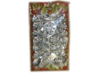 купить Набор бантиков 12шт, 5cm серебрянных в Кишинёве