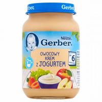 Gerber пюре Фруктовый микс с йогуртом 6+ мес., 190 г