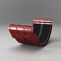 Хомут желоба Scandic (125 mm)  Цвет - Бордовый