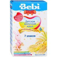 Bebi Premium каша 7 злаков молочная, 6+мес. 200г