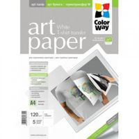 A4 120g 5p ColorWay Termotransfer MatteCoated Photo Paper A4, 120g, 5pcs  (PTW120005A4)