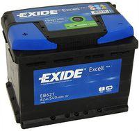 **АКБ Exide  EXCELL 12V  62Ah  540EN  242x175x190 +/-, EB621