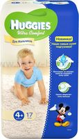 Huggies Ultra Comf Small Boy 4+ (10-16 кг.) 17 шт.