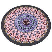 Коврик для йоги круглый (замша + каучук) 0.3 см, d=150 см FI-6218-6 (5729)