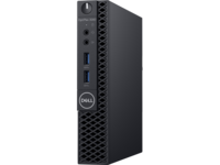 DELL OptiPIex 3060 MFF lnteI® Core® i3-8100T (Quad Core, 3.10GHz, 6MB), 4GB DDR4 RAM, 128GB M.2 SSD, no ODD, lnteI® UHD630 Graphics, Wi-Fi/AC-MU-MIMO/BT4.1, TPM, 65W PSU, USB mouse, USB KB216-B, Win10Pro, Black