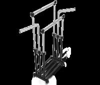 Стойка для одежды двойная передвижная на колёсиках В1-73