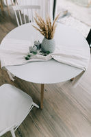 Стол MARS White/Naturel