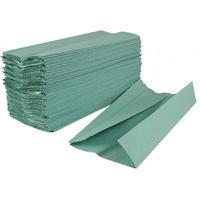 Бумажные полотенца V укл. зеленые 1 слой 230 листов