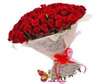 cumpără 51 Trandafir ROSU PREMIUM OLANDA 80-90CM în Chișinău