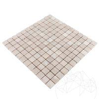 Мозаика Мраморный свет бежевый Полированный 2,3 x 2,3 см