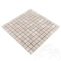 Mozaic Marmura Light Beige Polisata 2.3 x 2.3 cm
