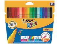Набор фломастеров Bic Visa моющихся 18шт