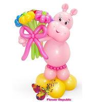 купить Фигура из шаров «Розовый бегемотик» в Кишинёве