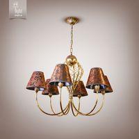 N&B Light Люстра Сидней 12806-1 золото/коричневый