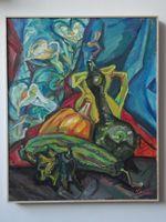 Натюрморт с тыквами, 60x50 см, холст, масло