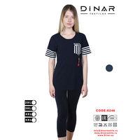 Set Dame tricou cu pantaloni 3 sferturi