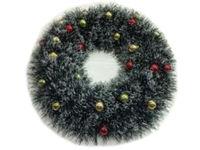 купить Венок новогодний D50cm зеленый, с шариками в Кишинёве