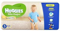 Huggies Ultra Comfort Giga Boy 5 (12-22 кг.) 64 шт.