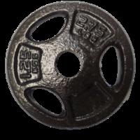 Диск металлический 1.25 кг d=30 мм (1459)