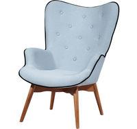 cumpără Fotoliu din lemn tapițat cu şezut din stofă, 760x720x980 mm în Chișinău