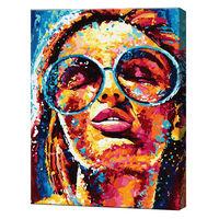 GX33905 Frumoasa în ochelari Pictură pe numere 40х50 сm