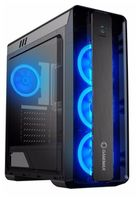 Case ATX GAMEMAX MoonLight, w/o PSU, 4x120mm,Blue LED(Ring-type) fans, Fan controller, USB3.0, Black