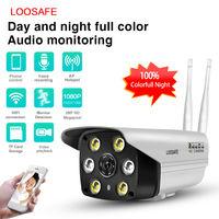 Loosafe LS C6 Беспроводная IP-камера видеонаблюдения, для наружного наблюдения, цвет ночного видения, Full HD 1080 p, 2.0 мп