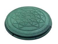 Люк с рамой  композ.(полимер-песчаный) ф.630 зеленый (для огорода) 730x50x25kg
