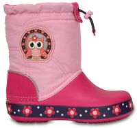Kids' CrocsLights LodgePoint Night Owl Boot (Party Pink / Candy Pink)