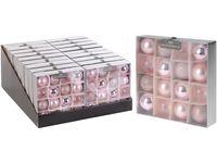 Набор шаров 16X40mm, розовые, в коробке