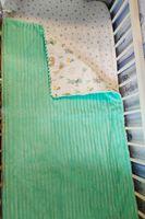 Одеяло пледик для новорожденных PAMPY мятный плюш