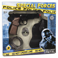 Набор полицейский: пистолет и аксессуары (8 зарядный), код 44063